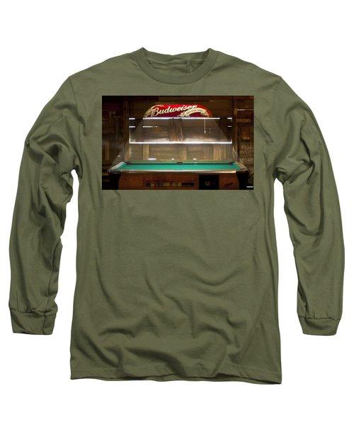 Budweiser Light Pool Table Long Sleeve T-Shirt