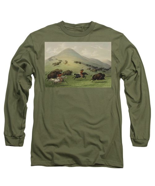 Buffalo Hunt Long Sleeve T-Shirt