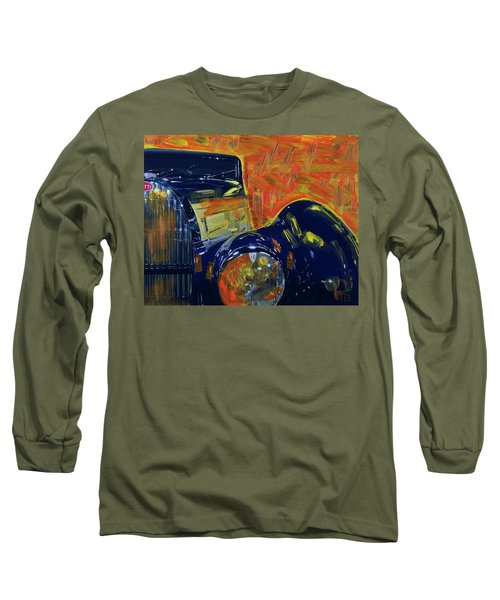 Long Sleeve T-Shirt featuring the photograph Bugatti Abstract Blue by Walter Fahmy