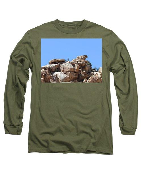Bull From Joshua Tree Long Sleeve T-Shirt by Viktor Savchenko