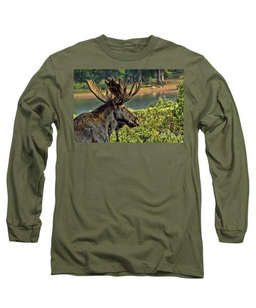 Bull Moose Long Sleeve T-Shirt by Steven Parker