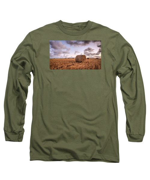 Bundy Hay Bales #3 Long Sleeve T-Shirt by Brad Grove