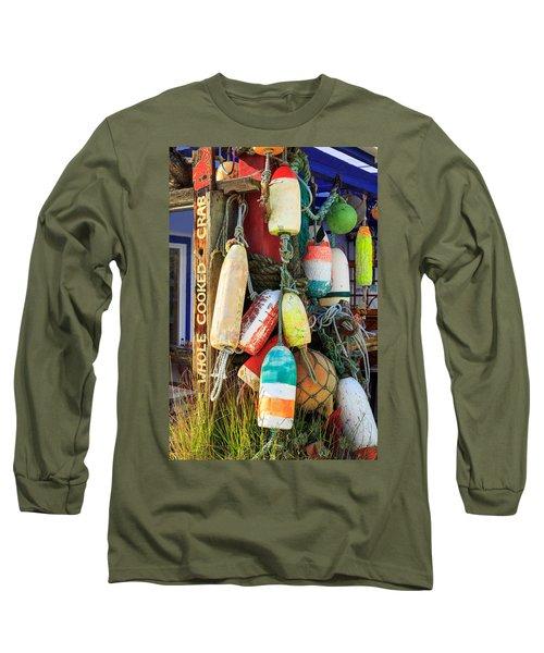 Buoys At The Crab Shack Long Sleeve T-Shirt