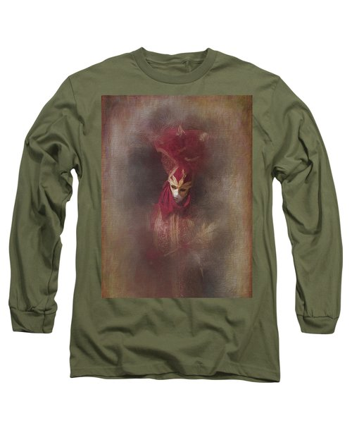 Burgundy In Venice Long Sleeve T-Shirt by Jack Torcello