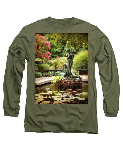 Burnett Fountain Garden Long Sleeve T-Shirt