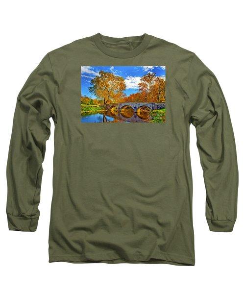 Burnside Bridge At Antietam Long Sleeve T-Shirt by Paul W Faust -  Impressions of Light