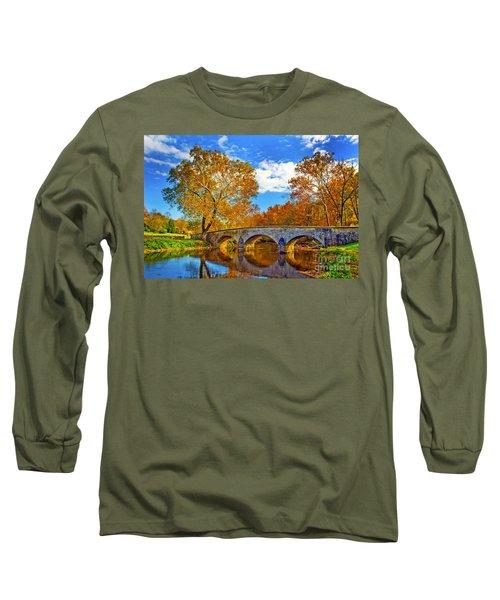 Burnside Bridge At Antietam Long Sleeve T-Shirt