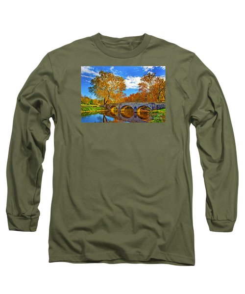 Burnside Bridge At Antietam Long Sleeve T-Shirt
