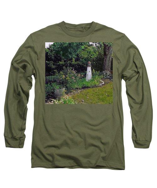 Burnside Garden Lighthouse Long Sleeve T-Shirt by Cedric Hampton
