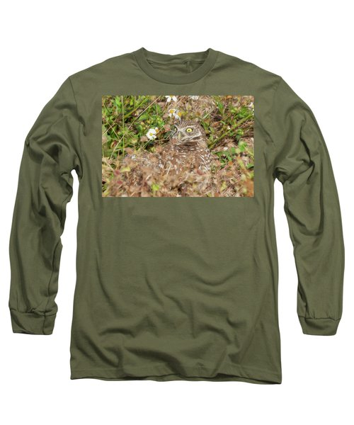 Burrowing Owl With Wide Eye Long Sleeve T-Shirt