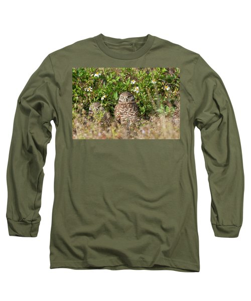 Burrowing Owls Outside Their Den Long Sleeve T-Shirt