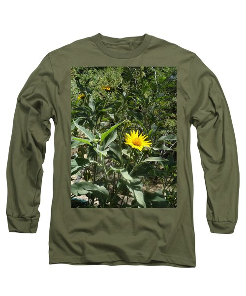 Burst Of Sun Flower Long Sleeve T-Shirt