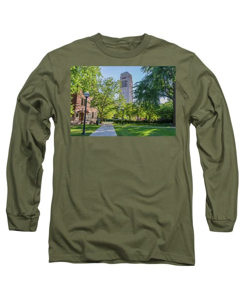 Burton Memorial Tower 1 University Of Michigan  Long Sleeve T-Shirt