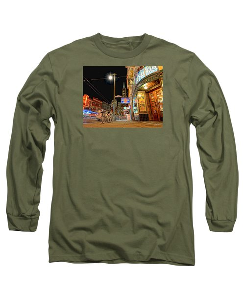 Long Sleeve T-Shirt featuring the photograph Busy View Northbeach San Francisco by Steve Siri