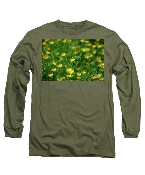 Buttercup Field- Butler Creek Trail- Gresham- Oregon Long Sleeve T-Shirt
