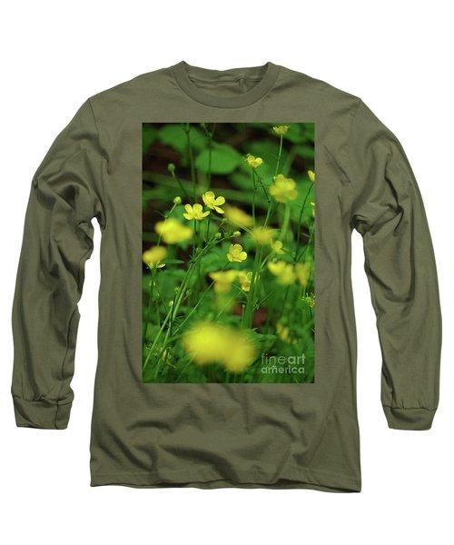 Buttercup Grouping- Vertical- Butler Creek Trail Long Sleeve T-Shirt