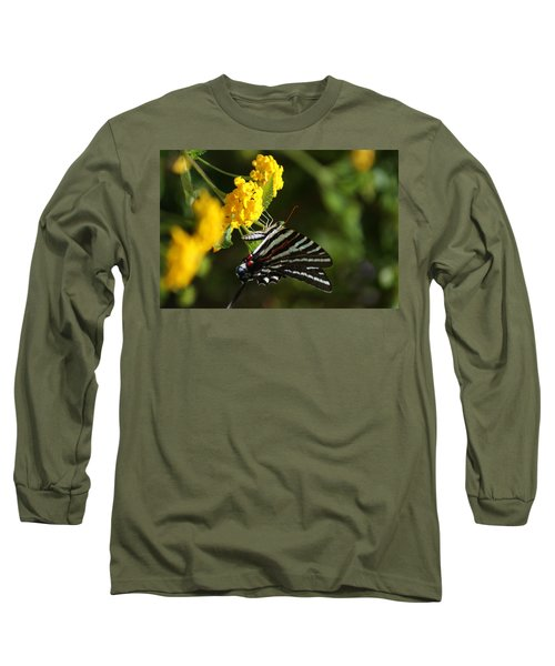 Butterflies And Blooms Long Sleeve T-Shirt