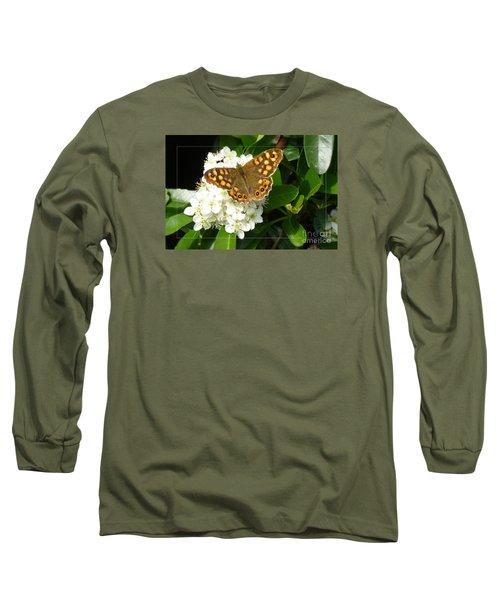 Long Sleeve T-Shirt featuring the photograph Butterfly 1 by Jean Bernard Roussilhe