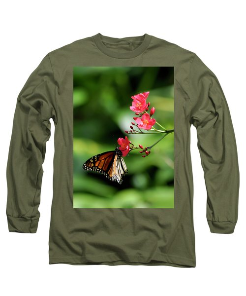 Butterfly And Blossom Long Sleeve T-Shirt