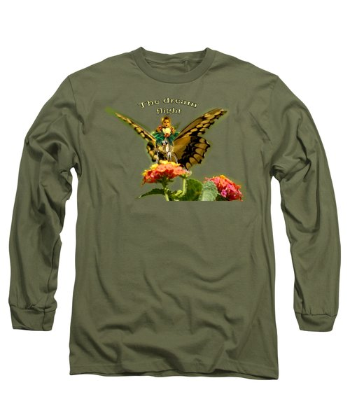 Butterfly And Little Girl Long Sleeve T-Shirt