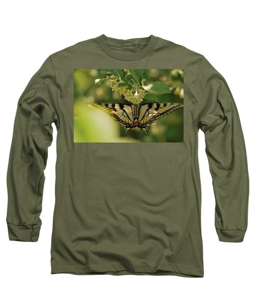 Long Sleeve T-Shirt featuring the photograph Butterfly From Another Side by Susan Capuano