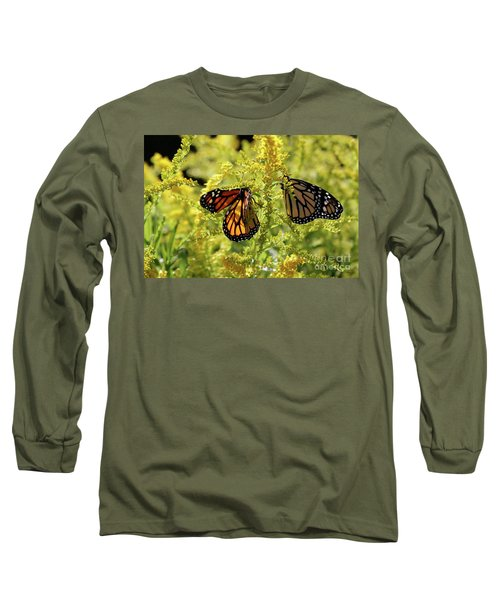 Butterfly In Fall  Long Sleeve T-Shirt