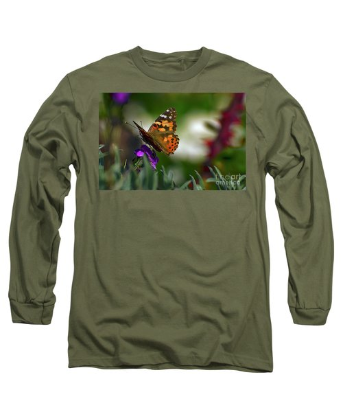 Long Sleeve T-Shirt featuring the photograph Butterfly In Winter by Debby Pueschel