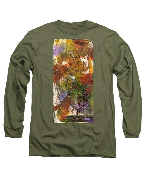 Butterfly Kisses Long Sleeve T-Shirt by Angela L Walker