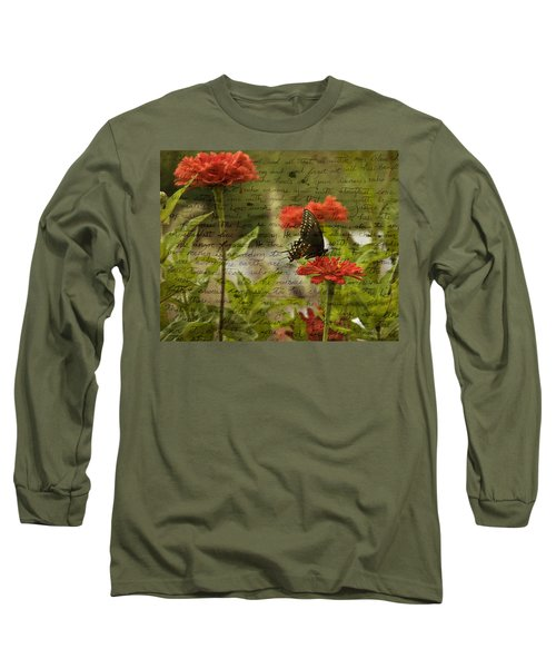 Butterfly Notes Long Sleeve T-Shirt