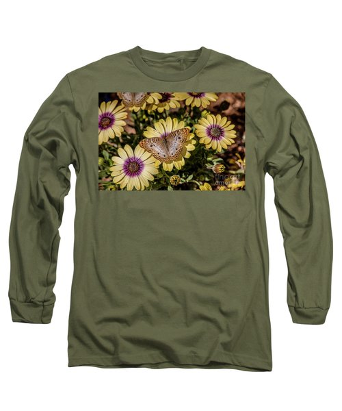 Butterfly On Blossoms Long Sleeve T-Shirt