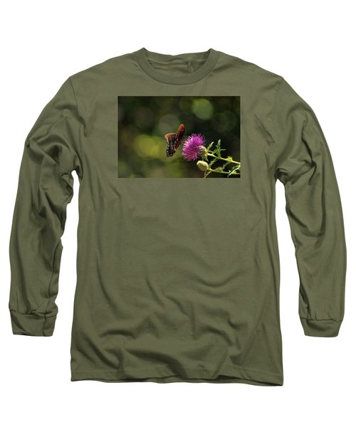 Long Sleeve T-Shirt featuring the photograph Butterfly Touch by Rick Friedle