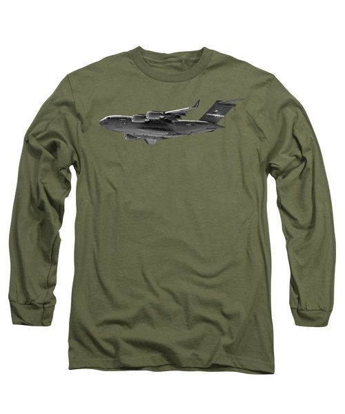 C-17 Globemaster IIi Bws Long Sleeve T-Shirt by Mark Myhaver