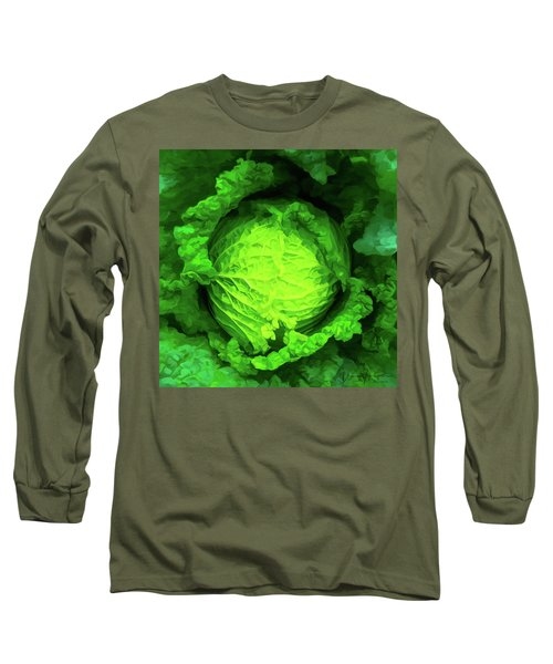 Cabbage 02 Long Sleeve T-Shirt by Wally Hampton