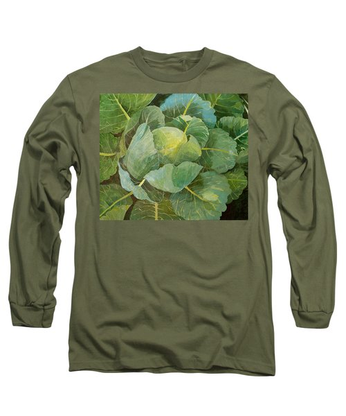 Cabbage Long Sleeve T-Shirt by Jennifer Abbot
