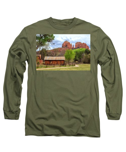 Long Sleeve T-Shirt featuring the photograph Cabin At Cathedral Rock by James Eddy