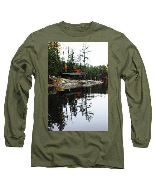 Cabin On The Rocks Long Sleeve T-Shirt