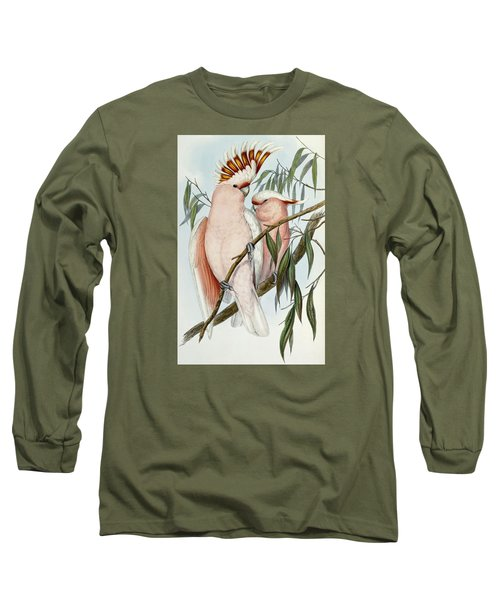 Cacatua Leadbeateri Long Sleeve T-Shirt by John Gould