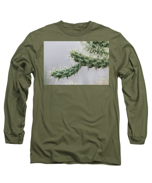 Cactus Branch With Wet White Long Needles Long Sleeve T-Shirt