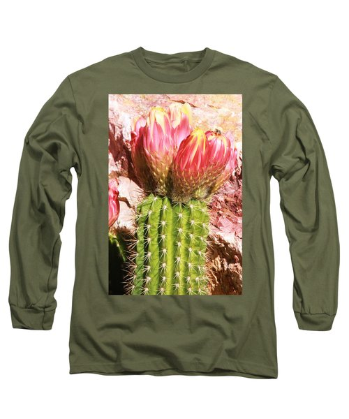 Cactus Flowe Bee Long Sleeve T-Shirt