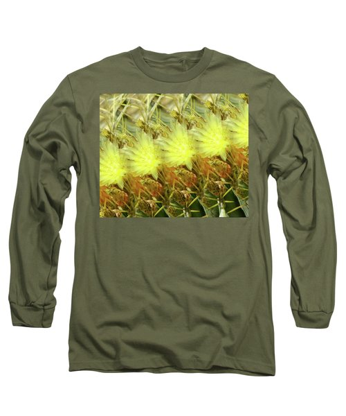 Long Sleeve T-Shirt featuring the photograph Cactus Flowers by Kathy Bassett