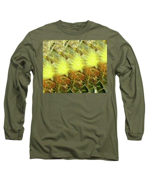 Cactus Flowers Long Sleeve T-Shirt by Kathy Bassett