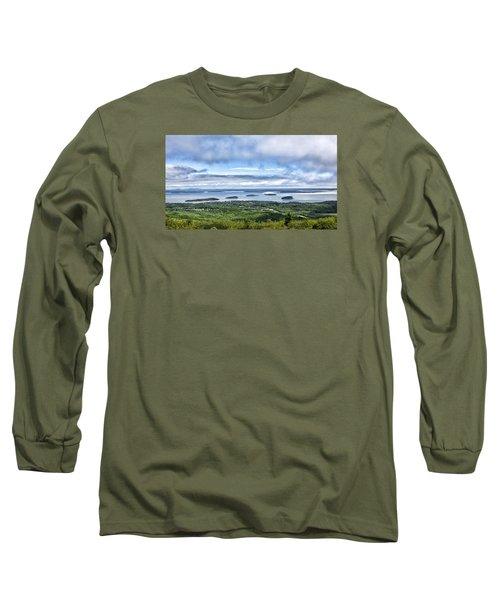 Cadillac Mountain View - Acadia National Park Long Sleeve T-Shirt