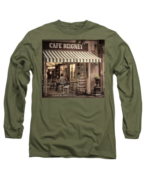 Cafe Beignet 2 Long Sleeve T-Shirt by Jerry Fornarotto