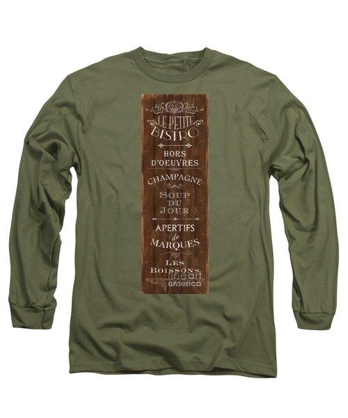 Long Sleeve T-Shirt featuring the painting Cafe De Paris 2 by Debbie DeWitt