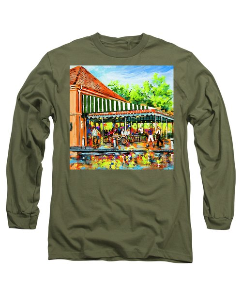Cafe Du Monde Lights Long Sleeve T-Shirt by Dianne Parks