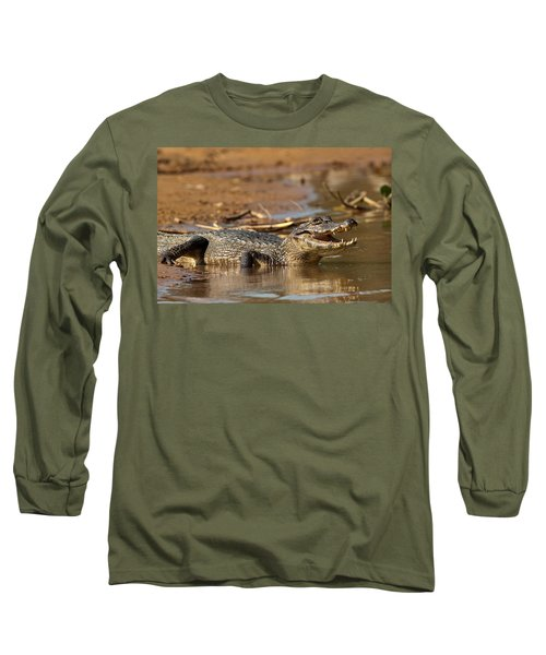 Caiman With Open Mouth Long Sleeve T-Shirt