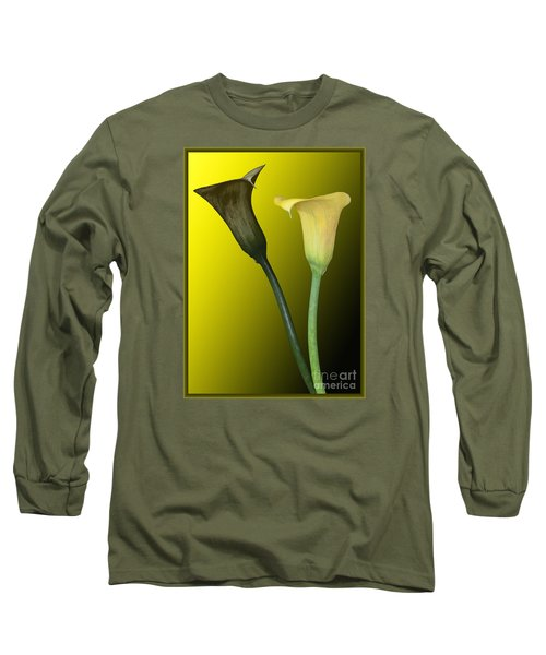 Cala Lilies Opposites Long Sleeve T-Shirt by Shirley Mangini
