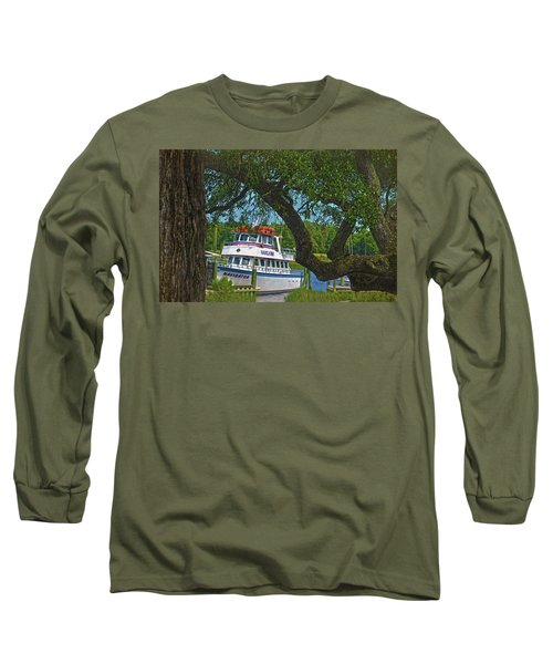 Calabash Deep Sea Fishing Boat Long Sleeve T-Shirt by Sandi OReilly