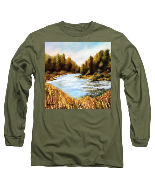 Calapooia River Long Sleeve T-Shirt by Marti Green