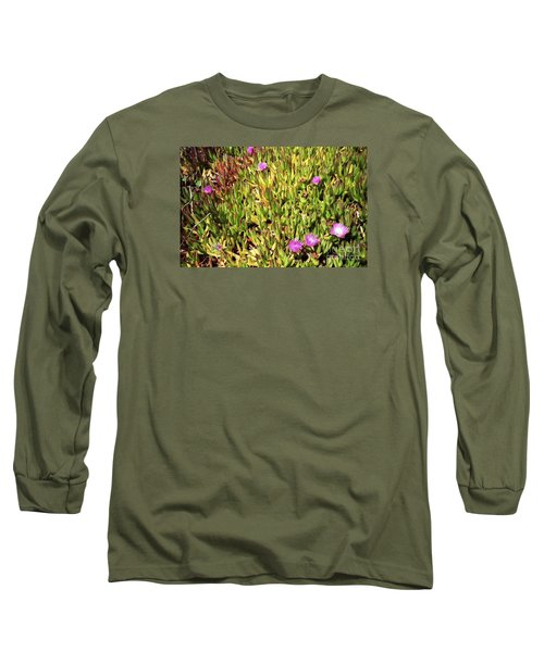 California Coast Ice Plant Long Sleeve T-Shirt
